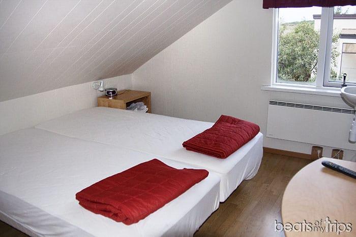 camas Bjarmaland guesthouse dormir fiordos Islandia alojamiento barato