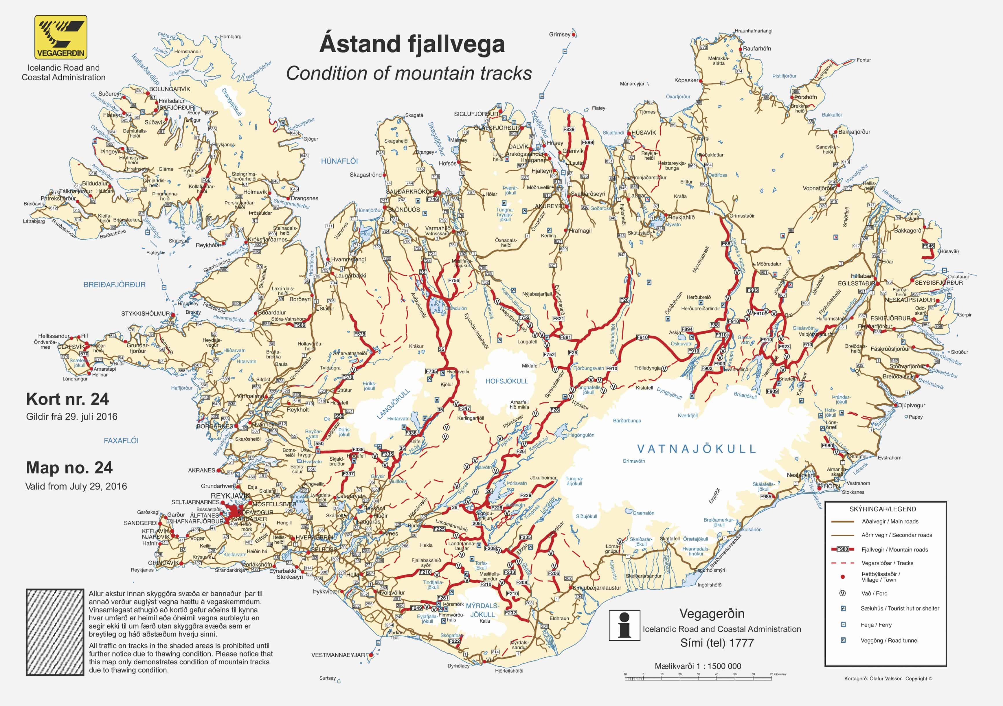 Mapa carreteras Islandia viaje ruta por Islandia Iceland road Map