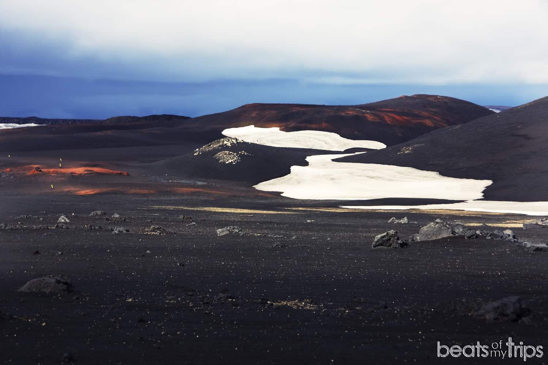 que ver islandia tierras altas highlands caldera Askja campos lava volcan carreteras de montaña