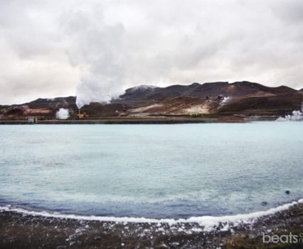 Laguna Azul planta geotérmica jarnarflag