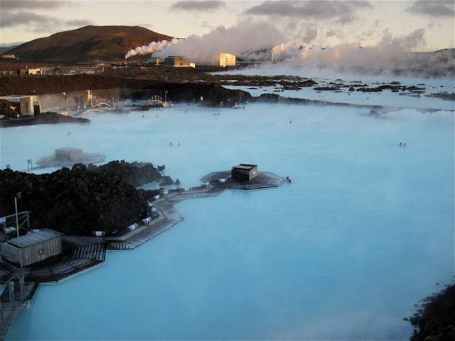 Blue lagoon Islandia Laguna azul Central geotermica de Svartsengi