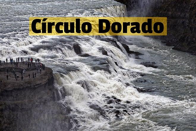 Cascada Gullfoss Circulo Dorado Islandia viaje