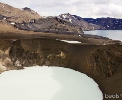Crater Viti Askja presupuesto viaje Islandia Vadear ríos Tierras Altas Islandia carreteras F