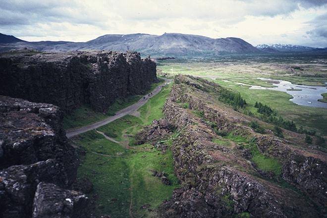 Falla Almannagja Parque Nacional Thingvellir Circulo Dorado Islandia