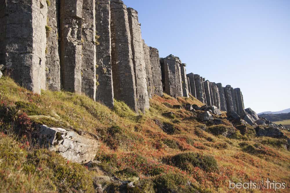 Columnas de Gerduberg columnas basalto Islandia peninsula Snaefellsness cómo viajara a Islandia por tu cuenta