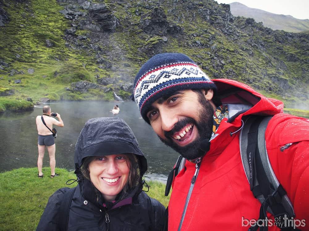 Baños naturales hot springs Trekking Landmannalaugar Mapa Islandia