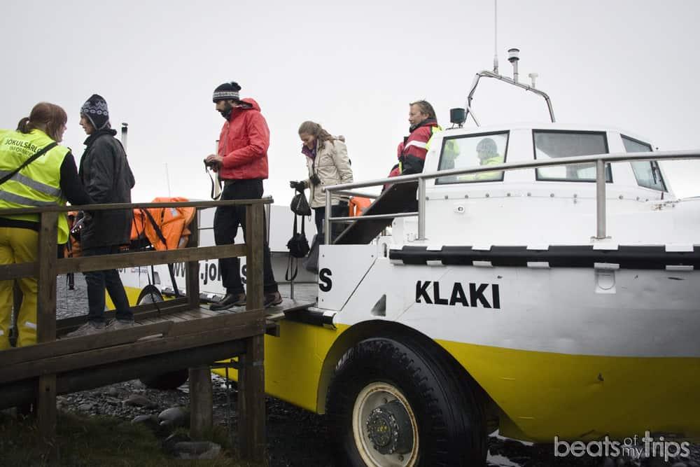 Bote anfibio Jokulsarlon cuando Islandia excursiones