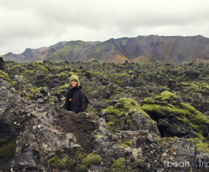 Campo lava Laugharaun Trekking Landmannalaugar Montañas colores Mapa Islandia