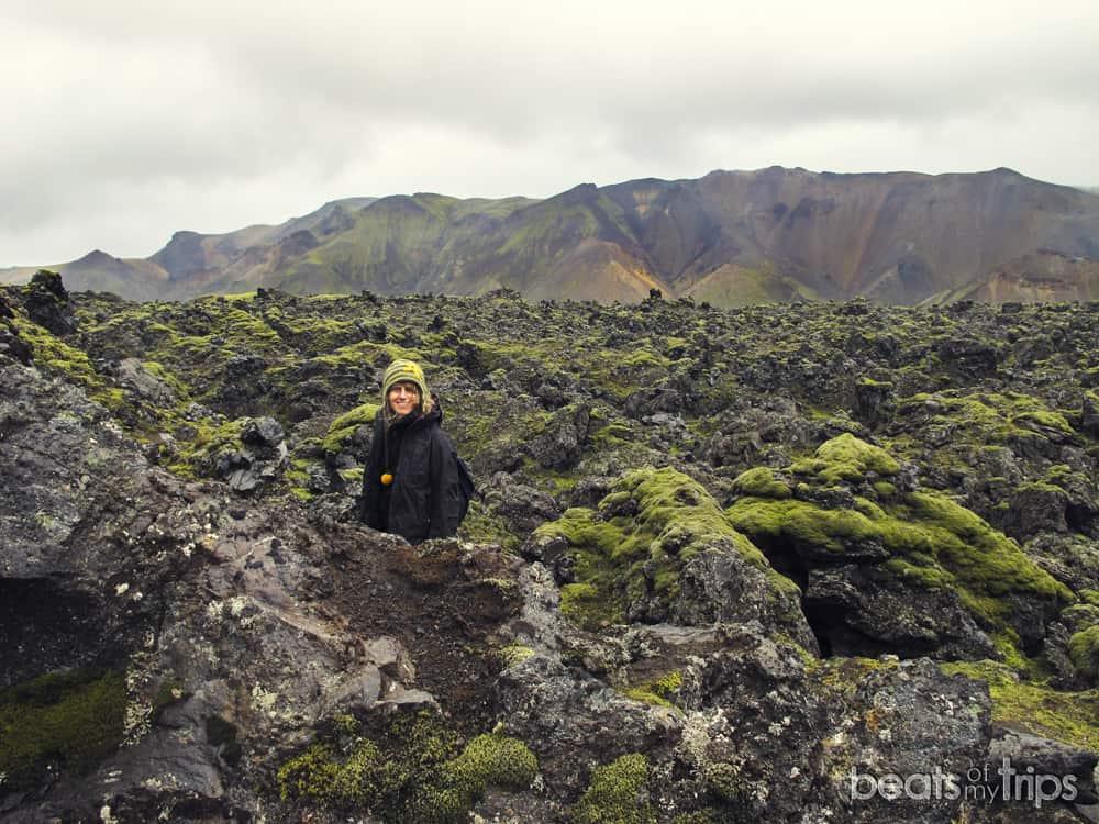Campo lava Laugahraun Trekking Landmannalaugar Montañas colores Mapa Islandia