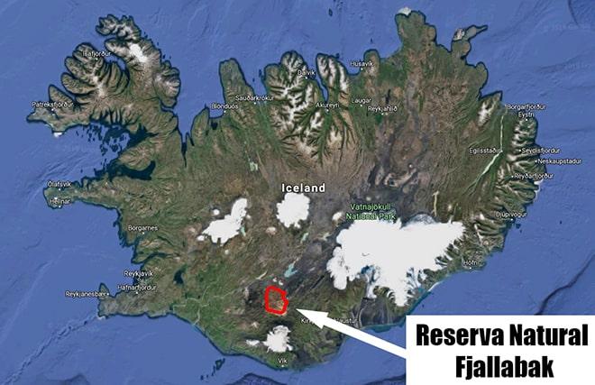 Mapa Reserva Natural Fjallabak guia Islandia Landmannalaugar Fjallabak Nature Reserve Map Friðland að Fjallabaki