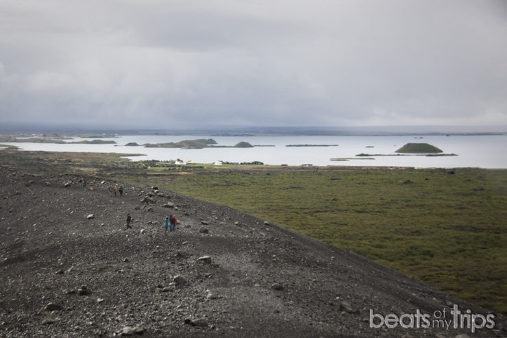 Vistas desde el cráter Hverfjall