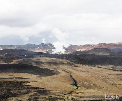 Námafjall y las fumarolas de Bjarnarflag