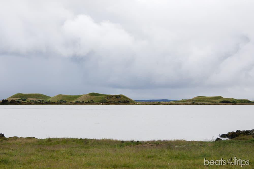 Cráteres en el lago Myvatn