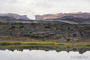 Vistas de Námafjall y fumarolas en Myvatn