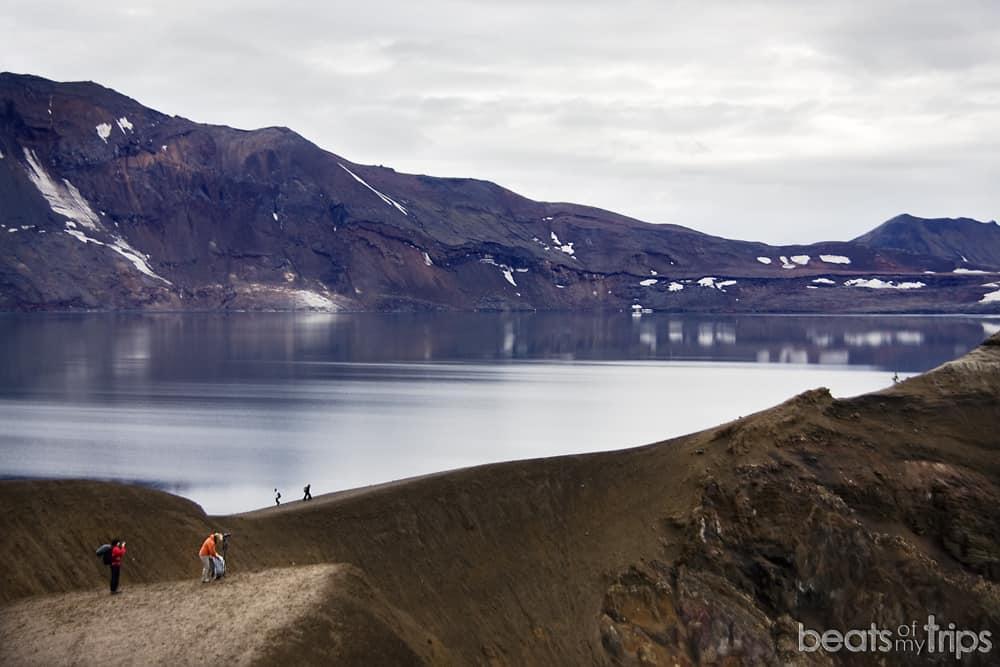 Öskjuvatn lago Viti qué es azul Highlands Islandia qué ver