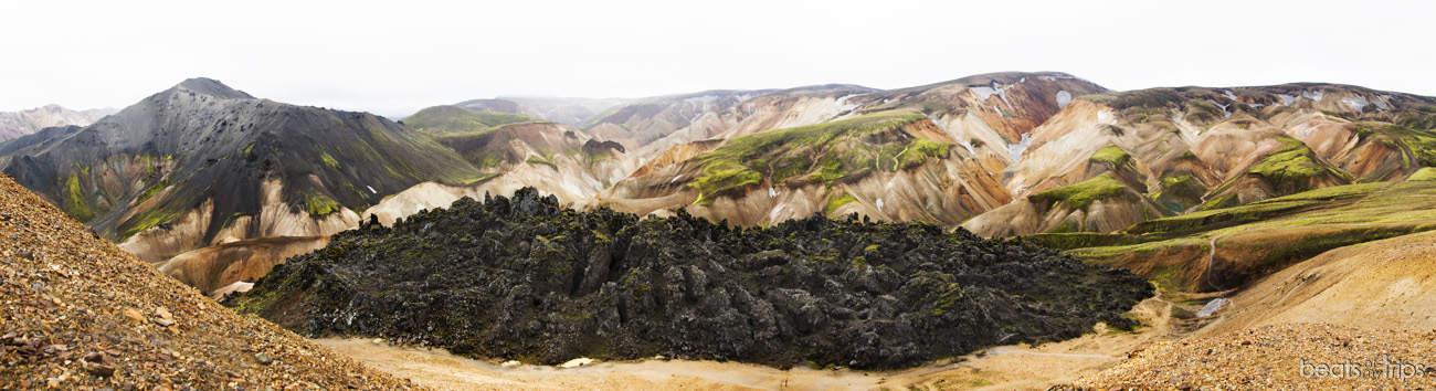Trekking Landmannalaugar Montañas colores Brennisteinsalda Mapa Islandia
