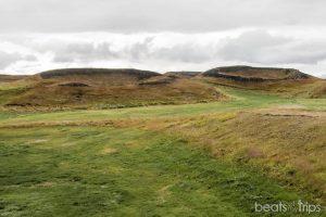 Skútustaðagígar, pseudocráteres al sur de Myvatn