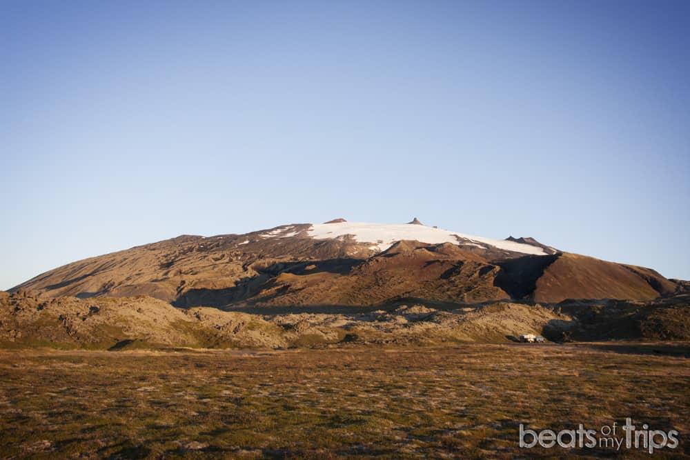 Snaefellsjökull Arnarstapi península Snaefellsness cómo viajar a Islandia por tu cuenta