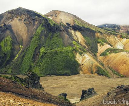 Vondugil Trekking Landmannalaugar Montañas colores Mapa Islandia