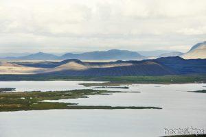 Vistas del cráter Hverfjall desde Vindbelgjarfjall
