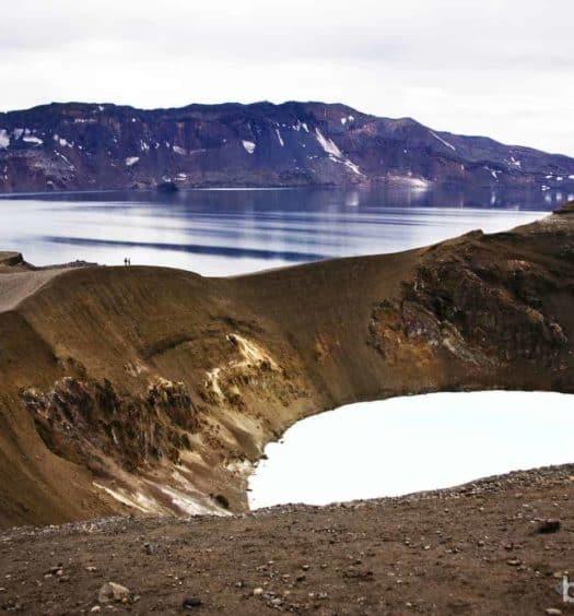 Lago Oskjuvatn y lago Viti en Askja