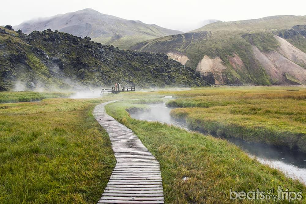 Mapa Trekking Landmannalaugar montañas de colores hotspots baños geotermales naturales Que ver Islandia imprescindibles Como llegar carreteras de montaña F-roads Highlands Tierras altas