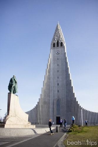 Iglesia Hallgrimskirkja Reikiavik capital Islandia tiempo Reykjavík
