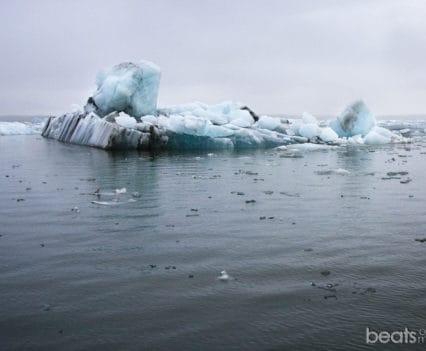 Icebergs flotando en Jokulsarlon