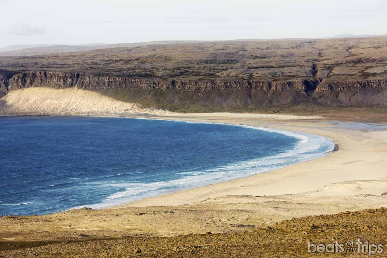 Playa Breidavik fiordos oeste Islandia viajar a Islandia