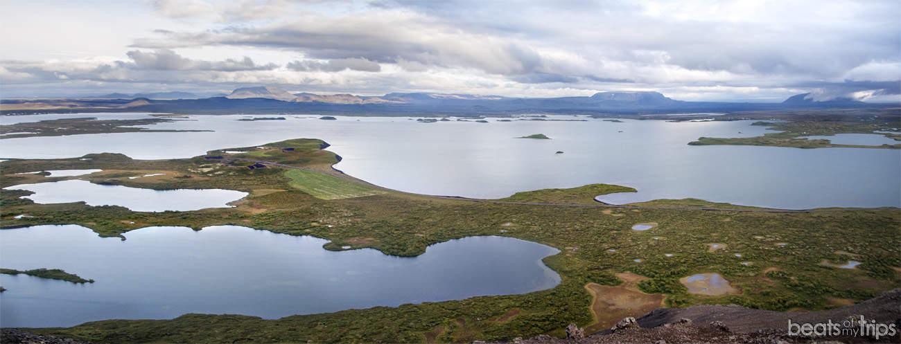 Panorámica de Myvatn desde Vindbelgjarfjall
