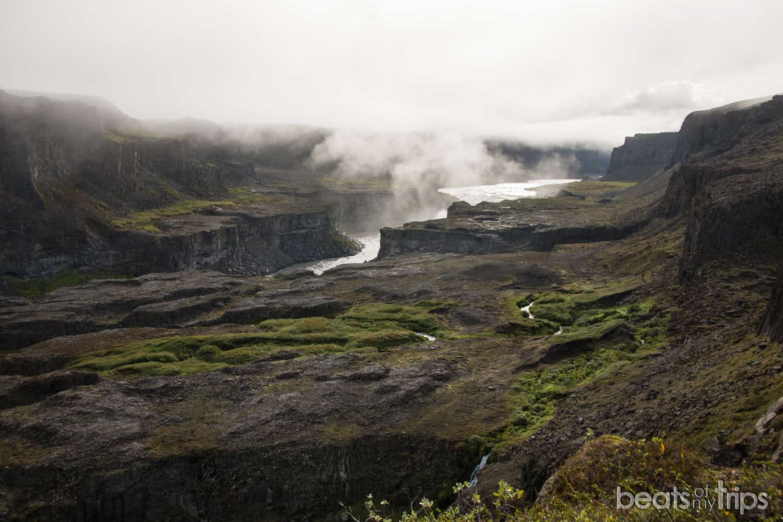 Vistas del cañón desde Hafragil