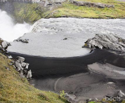 Arena negra de Hafragilsfoss