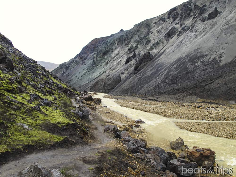Trekking Landmannalaugar Grænagil Mapa Islandia