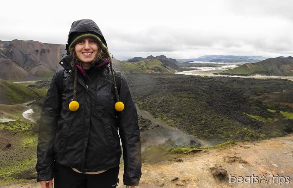 panoramica Brennisteinsalda Trekking Landmannalaugar Laugahraun Mapa Islandia