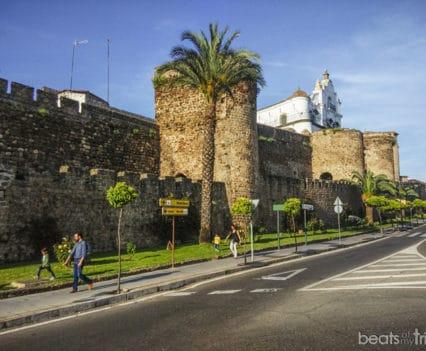 Muralla de Plasencia en Extremadura