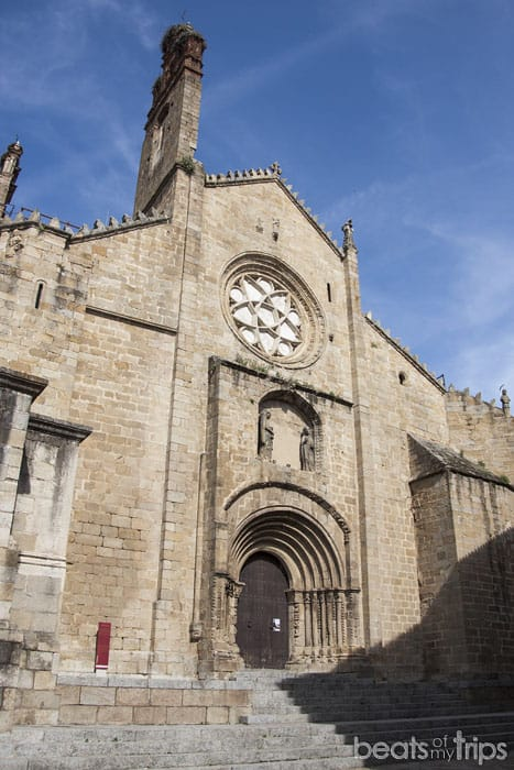 Fachada Catedral vieja Plasencia Extremadura