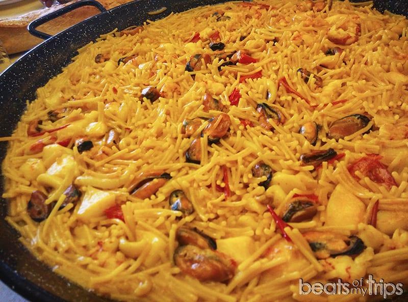 fideuá Gandía comer cenar en Gandía freidurías fideua gastronomía paella arroces