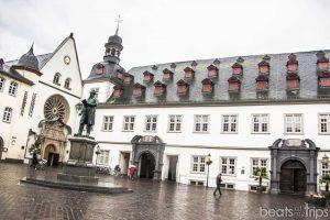 Ayuntamiento Plaza Jesuitas Jesuitenplatz Muller Coblenza Koblenz Crucero Rin Romántico Mosela Turismo Alemania