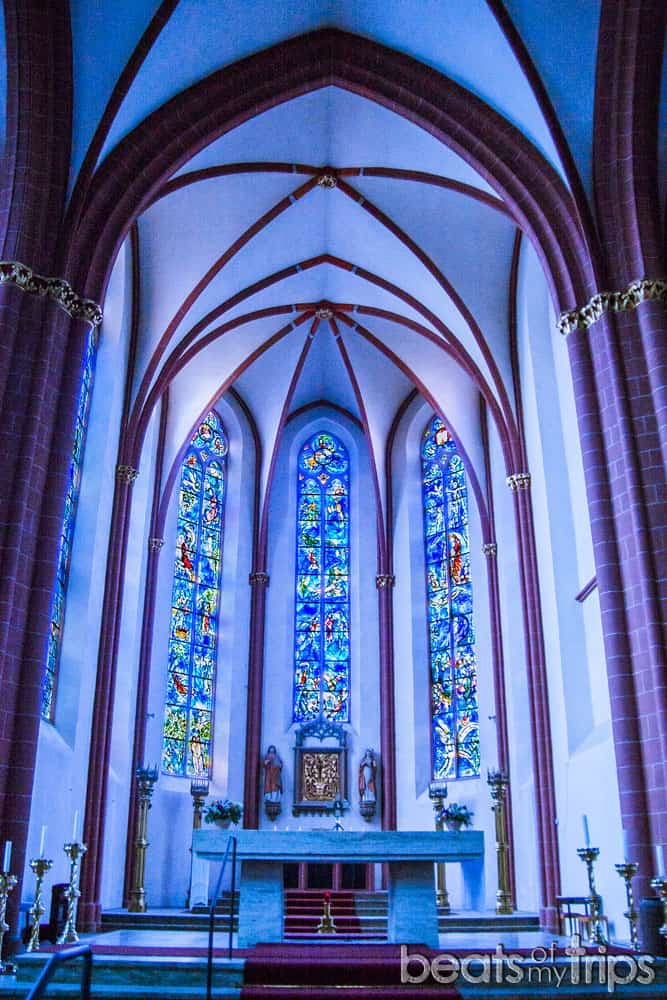 Maguncia Vidrieras Chagall Iglesia San Esteban Mainz Turismo Alemania Crucero Rin Romántico