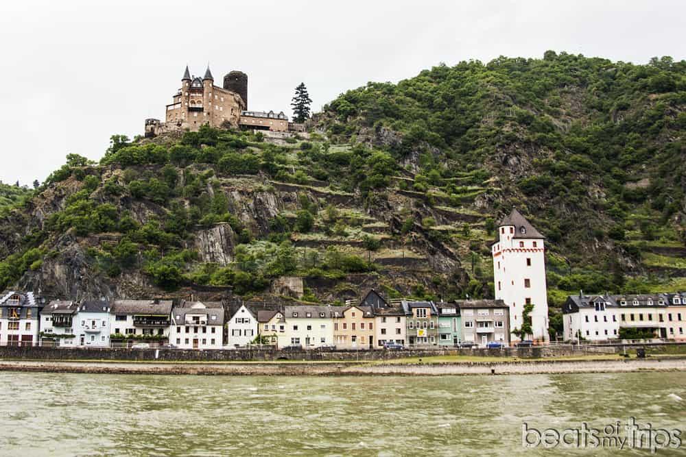 Sankt Goarshausen Castillo Katz Burg viñedos Crucero Rin Romántico Turismo Alemania