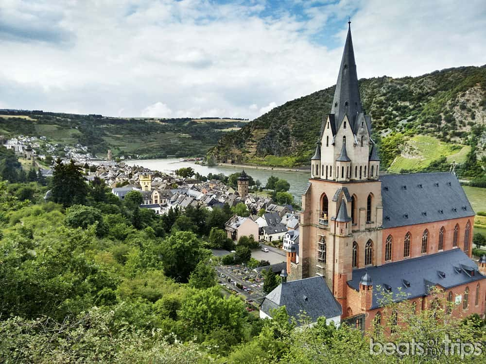 Iglesia gótica Nuestra Señora Liebfrauenkirche Oberwesel Crucero Rin Romántico Turismo Alemania