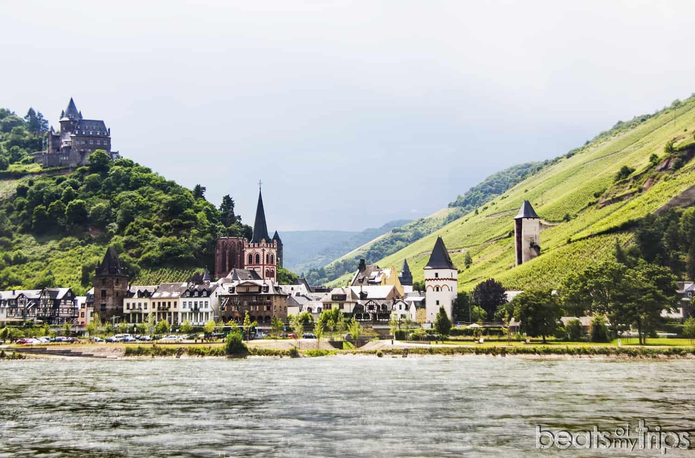 Bacharach Wernerkapelle Stahleck Burg Viñedos Crucero Rin Romántico Turismo Alemania