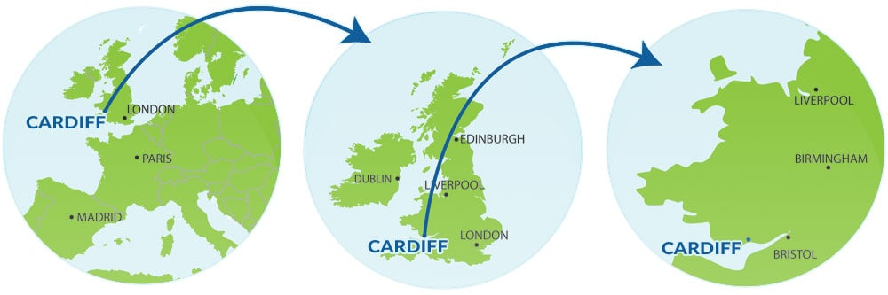 Mapa Cardiff turismo Viajar a Cardiff capital de Gales blog viajes