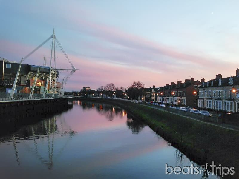 Millennium Stadium Cardiff Mundial de Rugby Seis Naciones río Taff Visitar Gales Cymru blog viajes