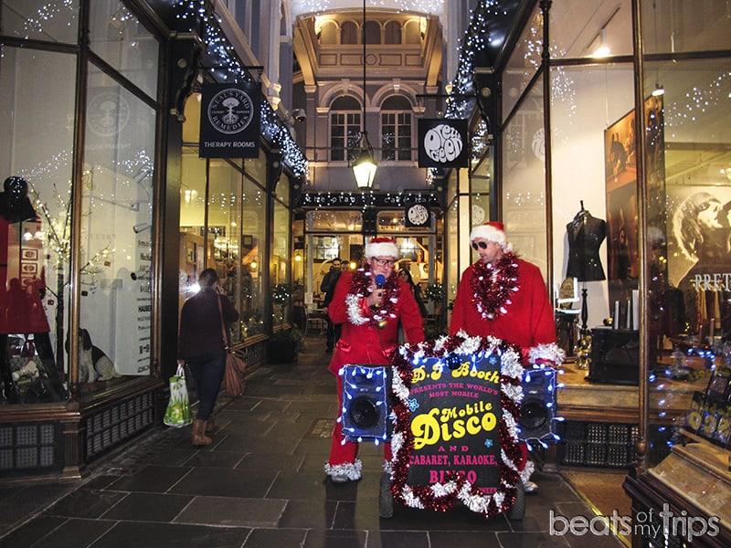 Galerias Cardiff Arcade de compras comprar mercados market turismo Gales navidad Wales