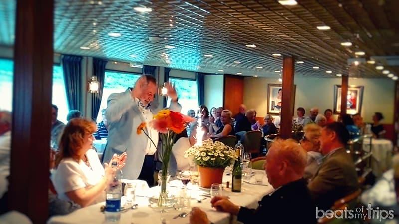 crucero restaurante cenas comida del crucero a bordo menú croisieurope barco