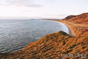 Playa de Rhossili con marea alta