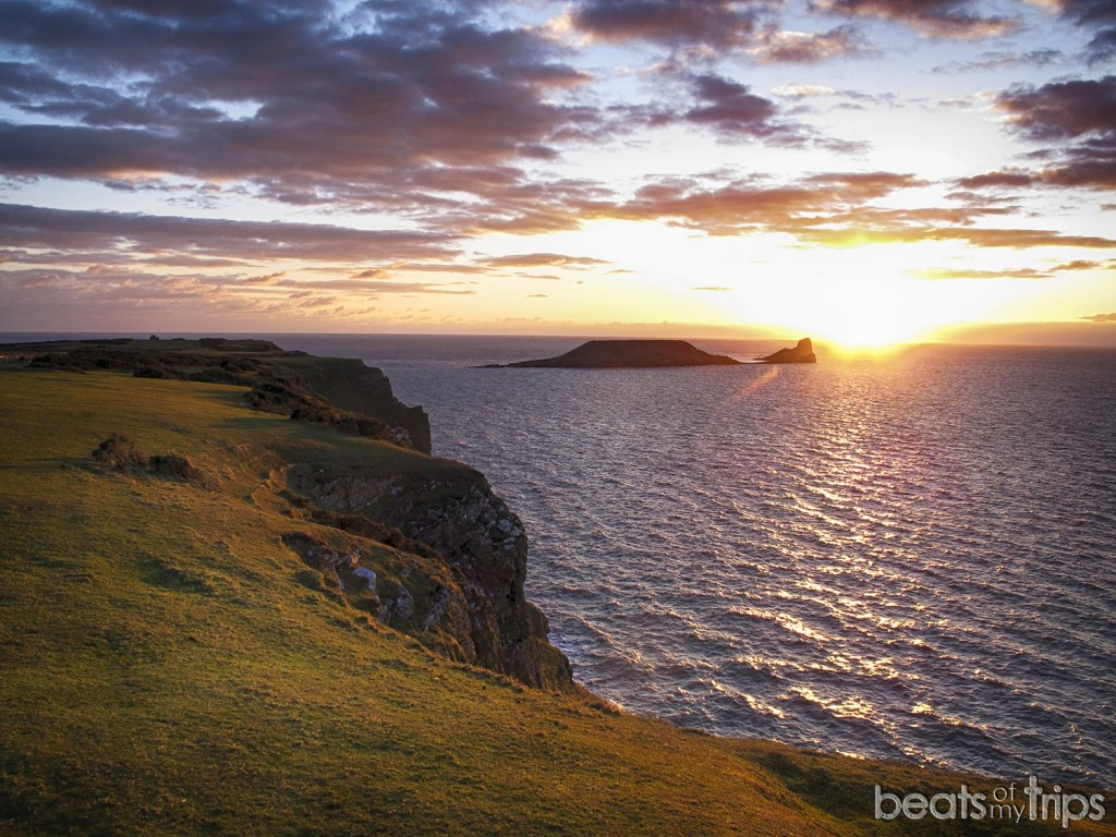 Peninsula Gower Playa Rhossili Worm's Head Visitar Gales Turismo Wales Coast Path