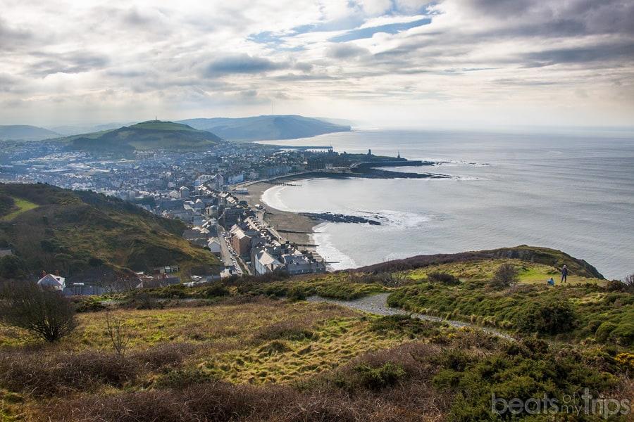 Aberystwyth Constitution Hill Bahia Cardigan bay viajar Gales Wales