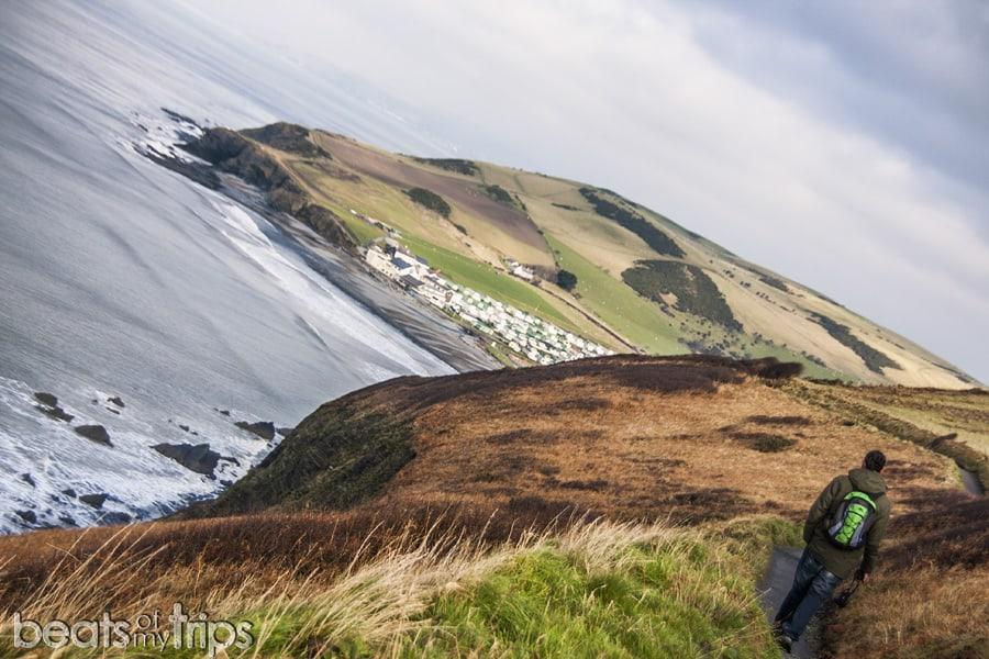 Welsh path coast Aberystwyth playa viajar Gales Turismo Gales